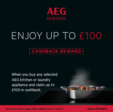 Up to £100 Cash or Voucher back by customer redemption