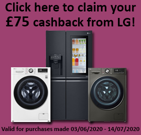 £75 cashback available by customer redemption at: www.lgpromotion.co.uk