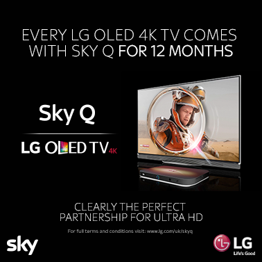 12 Month's Free Sky Q With LG 4K OLED TVs