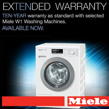 Free 10 Year Warranty With Selected Miele W1 Washing Machines!