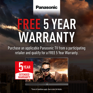 Free 5 Year Warranty on Selected Panasonic Viera TVs!