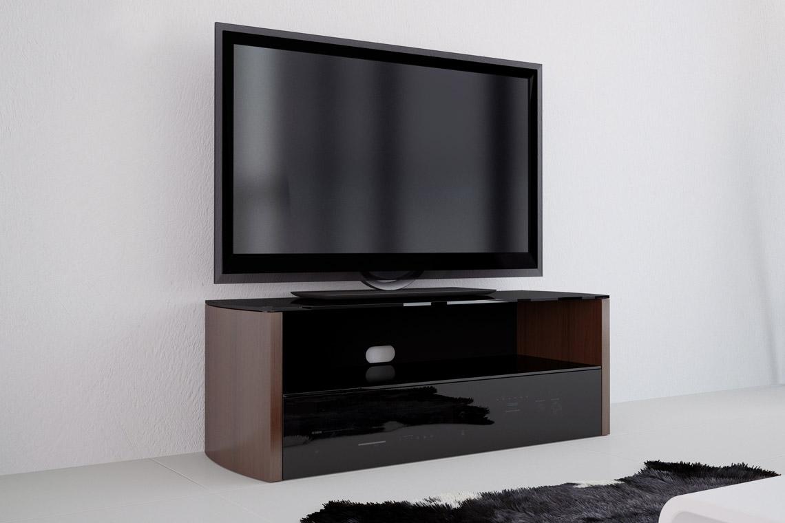 vivanco aw cm designer tv stand blackwalnut  hbh  - vivanco aw cm designer tv stand blackwalnut