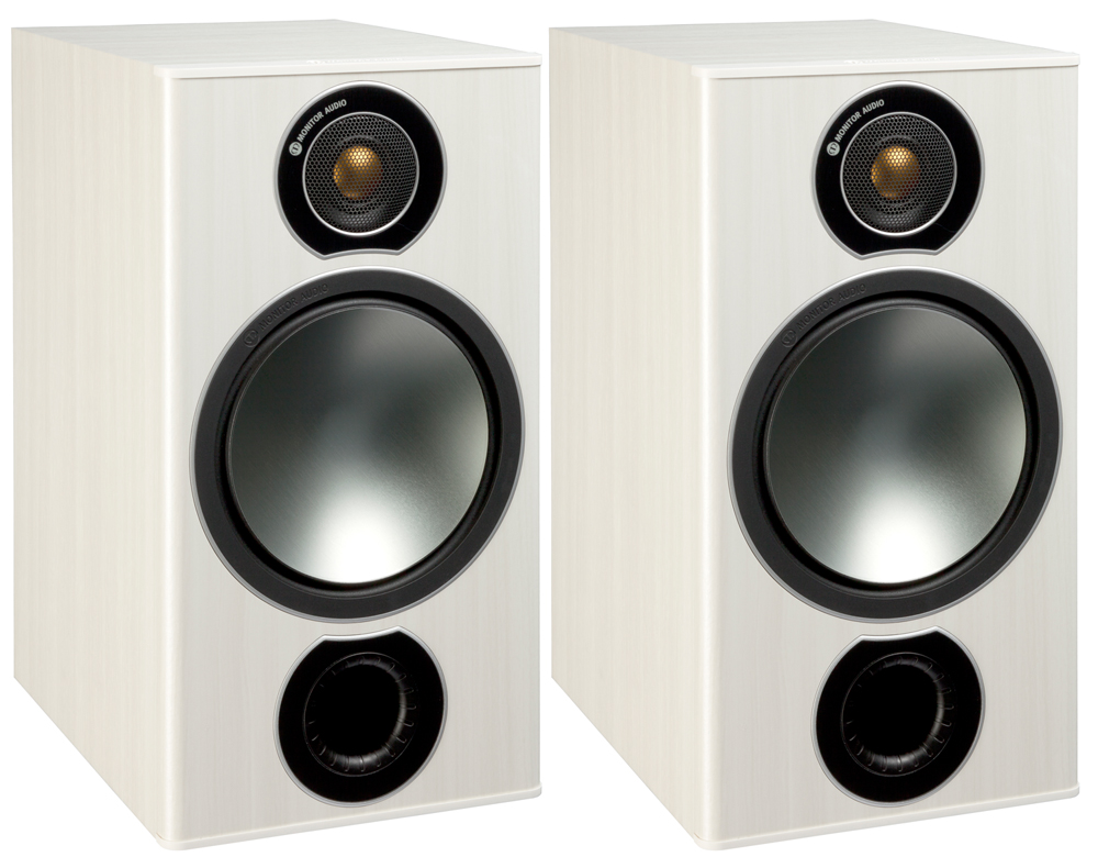 Monitor Audio BRONZE2WA White Ash Bookshelf Speakers