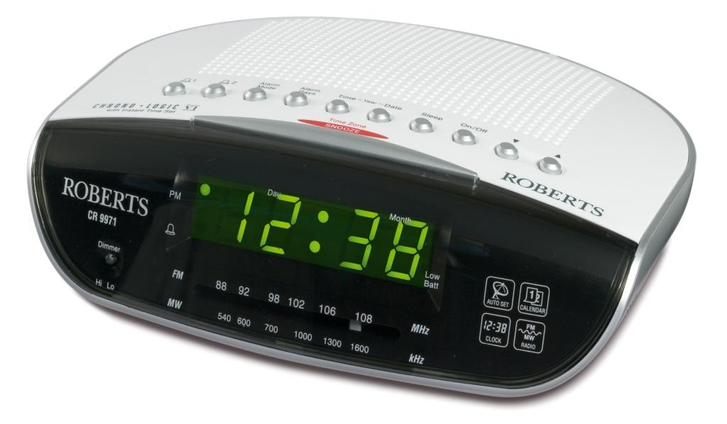 Coffee Maker Alarm Clock Radio : Roberts CR9971 Clock Radio HBH Woolacotts - Cornwall and Devon s Premier Independent ...