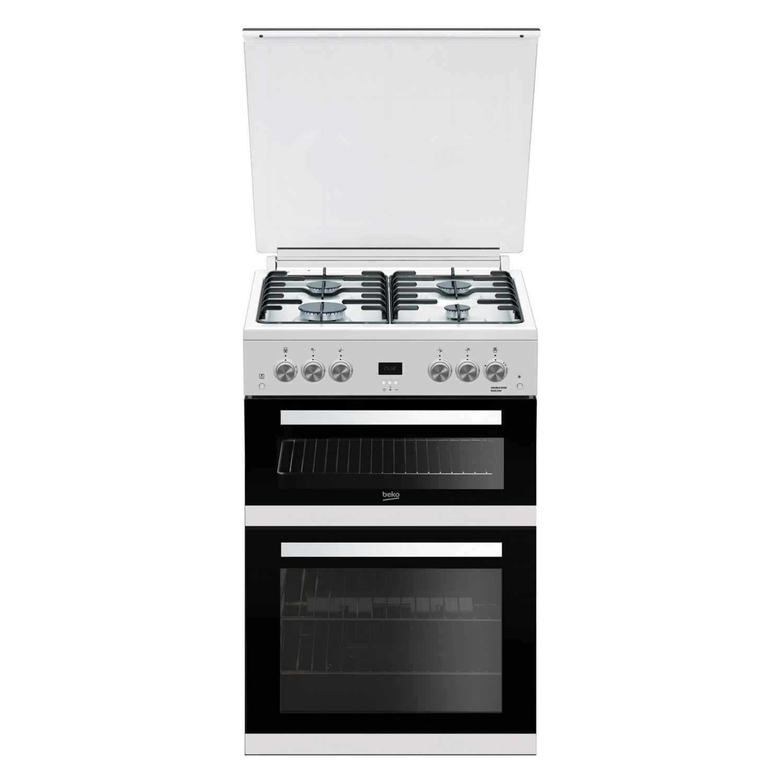 Beko Edg6l33w 60cm Gas Double Oven Cooker White Hbh