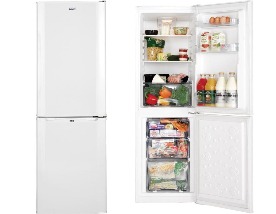 lec tf50152w frost free fridge freezer white hbh. Black Bedroom Furniture Sets. Home Design Ideas