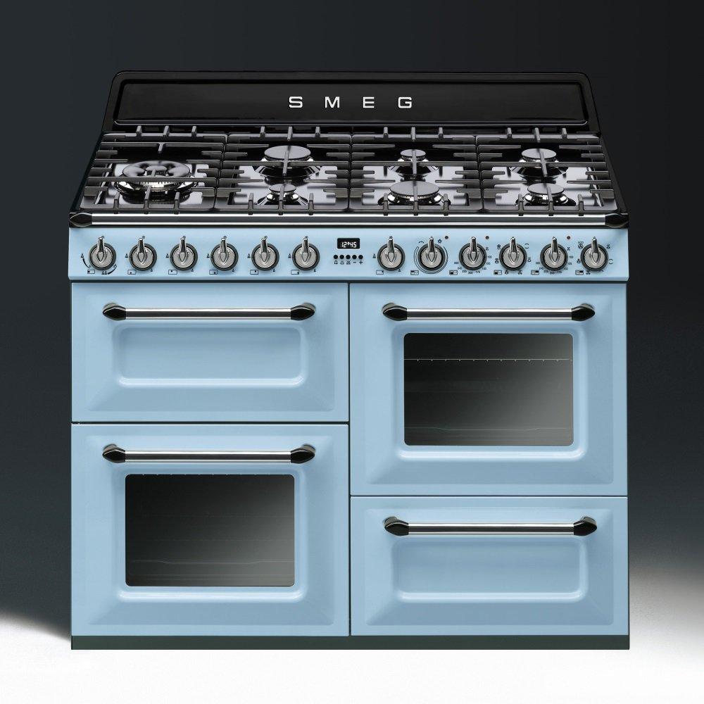 Oven Kitchen Set: Smeg TR4110AZ 110cm Range Cooker (Pastel Blue)